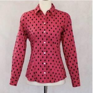 Foxcroft Long Sleeve Print Shirt